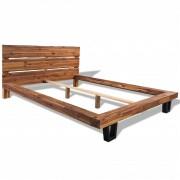vidaXL Estrutura de cama madeira de acácia maciça 140 x 200 cm
