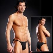 Blue Line Full Pouch Microfiber String Bikini Underwear Black BLM002