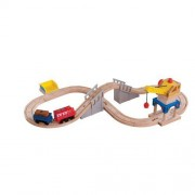 Chuggington Wooden Railway - Wilsons Crane & Tunnel Figure 8 Set