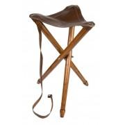 Háromlábú bőr szék