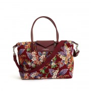 LANCASTER Shopper aus Canvas mit floralem Muster ACTUAL MAYA