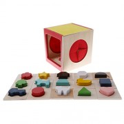 MagiDeal Shape Sorting Cube - Children Classic Wooden Montessori Toy with 15 Shapes