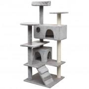 vidaXL Arbre à chat avec griffoirs en sisal 125 cm Gris