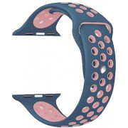 4wrist Silikonový řemínek pro Apple Watch - Tmavě modrá/Růžová 42/44 mm