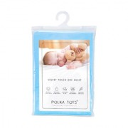 Polka Tots Sky Blue New Born Baby Mat Bed Protector Waterproof Sheet Reusable Absorbent Dry Sheet Large (Pack of 1)