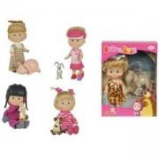 Маша и мечока - Кукла Маша с приятел животинче, Simba, налични 5 модела, 040124