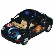 Masinuta Goki Die Cast VW New Beetle, scara 1:30, aluminiu