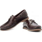Clarks Quay Port Boat Shoes For Men(Brown)
