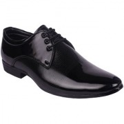 BB LAA Black Men's Patent Leather Formal Shoes