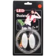 Trendzino ® LED Shoelaces Shoes Laces Flash Light Up Glow Stick Strap Shoestring Disco Party Shoe Lace(Orange Set of 2)