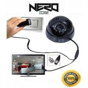 NeroEdge Cctv Dome camera with Built-in DVR (memory card slot) + Remote and TV video output