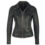 Ženska kožna jakna - METTAL / CRNA - NNM - M0011300