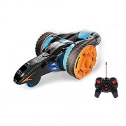 Zest 4 Toyz Five Rounds, Four Wheels Stunt Car 2WD Remote Control RC with LED Headlights High Speed 360 Degree Rolling Rotating Rotation For Kids