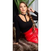 Cosmoda Collection Sexy choker v-hals trui zwart