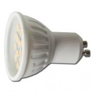 LED žárovka GU10 21xSMD 4.5W 3000-3500K teplá bílá - warm white
