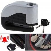 Freno Anti Robo De Bicicleta De Montaña Frenos De Disco Alarma (plata)