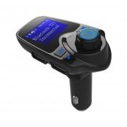 Transmisor FM Bluetooth Coche Coche Reproductor De MP3 Con El Interruptor De Alimentación Independiente Negro