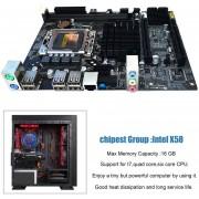 EY Tarjeta Madre Mainboard Para X58 LGA 1366 DDR3 16GB Apoyo ECC RAM-negro