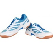 Nivia New Verdict Badminton Shoes For Men(White, Blue)