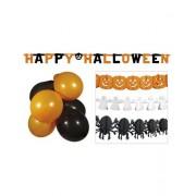 Set decoratiuni Halloween baloane si ghirlande