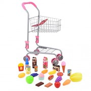 Abco Tech Pretend Play Childrens Toy Shopping Cart Ideal Grocery Cart Trolley for Toddlers & Kids Easy to Pretend Shop with Included Toy Grocery Or Food Items