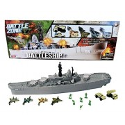 "26"" Giant USS Battleship with Jets and Vehicles"