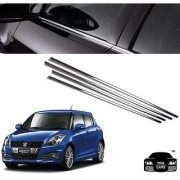 Trigcars Maruti Suzuki Swift 2012 13 14 type 2 Car Window Lower Garnish