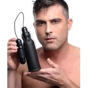 Lightning Stroke Silicone Stroker With Vibrating Bullet