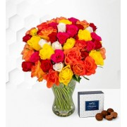 40 Roses - Free Chocs - Rose Bouquet - Birthday Roses - Flower Delivery - Next Day Flower Delivery