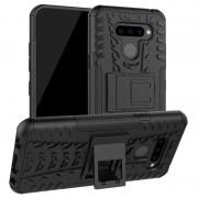 Capa Híbrida Anti-Slip para LG Q60 - Preto
