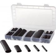 Set tuburi termocontractabile 4:1, negru, 1 set, Conrad Components