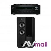Pachet Amplificator Receiver Onkyo TX-8020 + Boxe Dayton Audio T652 Dual desigilat