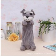 Imported And New cute anime School animal Cartoon Pencil Case Dog plush for children toys