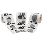 Novelty Place 3 Rolls Donald Trump Toilet Paper 3 Different Pictures - 250 Sheets per Roll - Smile & Kiss, Funny Political Gag Gift