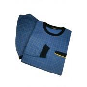 Boris pánská noční košile s čepicí AL.5441.0 5XL modrá