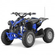 ATV pentru copii, Hecht 51060, 1060 W, 12 Ah, albastru / rosu / verde