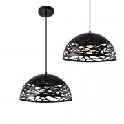 [lux.pro]® Lámpara colgante de diseño negra metal - look industrial