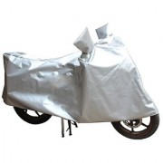 HMS Bike body cover with mirror pocket for Hero HF Deluxe - Colour Silver