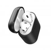 Husa de protectie din silicon cu functie de incarcare Wireless, Baseus, pentru Apple AirPods, Negru