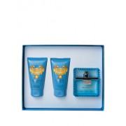 Set cadou Versace Man Eau Fraiche (Apa de toaleta 50 ml + Gel de dus 50 ml + After shave balsam 50 ml), pentru barbati