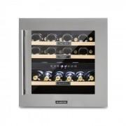 Klarstein Vinsider 36, хладилник за вино, 2 охладитлени зони, 5-22°C, 94l, неръждаема стомана (TK15-Vinsider36)