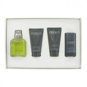 Calvin Klein Eternity 3.4 oz / 100.55 mL Eau De Toilette Spray + 2.5 oz / 73.93 mL After Shave Balm + 2.5 oz / 73.93 mL Hair & B