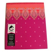 Carolina Pad Studio C Tri-fold 3-Pocket Folder ~ Taj Mahal (Violet, Pink and More)