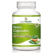 Leanhealth Neem Capsule 800 MG 60 Veg. Capsules 100 Pure and Natural.(Pack of 1)
