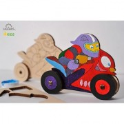 Ugears Motorcyclist 3D Coloring Puzzle