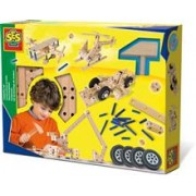 Ses Hobby Baieti - Set De Constructie Din Lemn - Vehicule