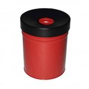 Abfallbehälter, selbstlöschend Volumen 30 l, HxØ 415 x 344 mm rot