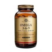 Solgar Omega 3-6-9 poisson, lin, bourrache capsules, 120