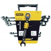 Set 6 chei Stanley combinate cu un capat cu clichet- 4-89-907