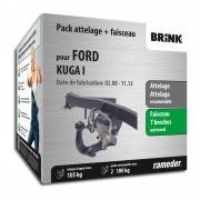 Rameder Attelage escamotable Brink + faisceau universel 7 broches - FORD KUGA I